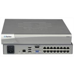 Affordable 16-port KVM-over-IP switch, 2 télécommande et 1 utilisateurs locaux, virtual media, alimentation unique et seul LAN; RoHS