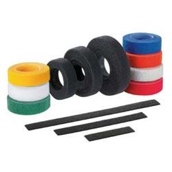 """Hook And Loop Tie, Strip, 12.0""""L (305mm), .75""""W (19.1mm), Red, Pack of 10"""