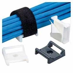"""Cable Tie Mount, Adhesive, 1.12""""x1.12"""" (28.5mm x 28.5mm), Natural, Pack of 25"""
