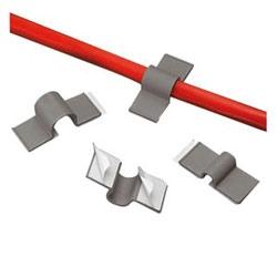 """Cordon Clip, double Pad, adhésif,.50"""" Bundle de 12,7 mm, gris, Pack de 100"""