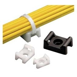 "Cable Tie Mount, .43"" (10.9mm)W, #6 Rivet, Nylon"