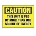 "Adhesive Sign, Polyester, 'Caution This.', 3.5""x5"", 1 sgn/cd, 5 cds/pk, Black/Yellow"