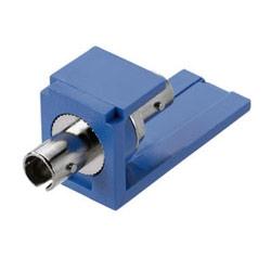 Module, ST Simplex Fiber Adapter, Multimode, Phosphor Bronze Split Sleeve, Blue