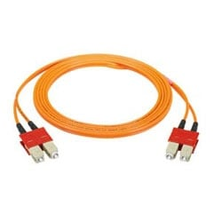 Câble, cordon de brassage SC-SC Keystone, OM2 50/125um Multimode, Riser, Duplex 3 mm veste