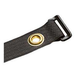 """Hook And Loop Tie, Center Mount Grommet, 12.0""""L (305mm), .85""""W (21.6mm), Black, Pack of 10"""