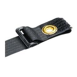 """Hook And Loop Tie, End Mount Grommet, 12.0""""L (305mm), .85""""W (21.6mm), Black, Pack of 10"""