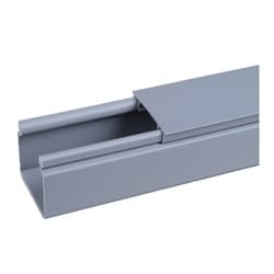 "Solid Hinged Duct, PVC, 3"" X 4"" X 6 FT., Light Gray, No Mounting Holes"