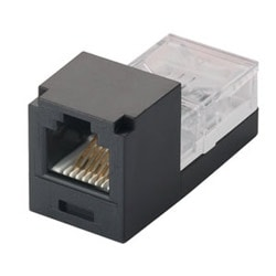 Mini-com Module, Category 3, UTP, 6 Pos 4 Wire, T568A, Black, Leadframe Style