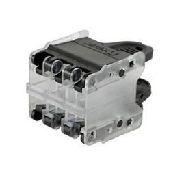 QuickNet Plug Pack Accepts 6 Panduit RJ45 Modular Plugs, Black