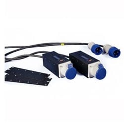 Rack Energy EMEA Kit 202: Standard Kit Plus (2) Zero-ru Inline Meters, 16A Three Phase Commando Plugs And Sockets