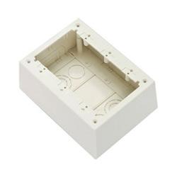 3-Gang Junction Box, Non-Metallic, White