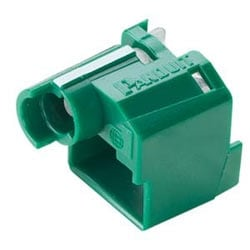 Standard Lock-in Device, 10 Devices (Green) And 1 Tool (Black)