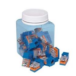NK Category 5e Leadframe Jack Module, 25 pack, Blue