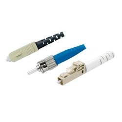 Keystone SC monomode connecteur Simplex bleu corps blanc botte