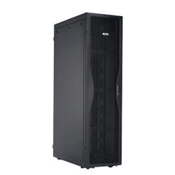 42 RU x 600mm large armoire avec plein perforé avant, porte arrière perforée de Split et panneaux latéraux solides