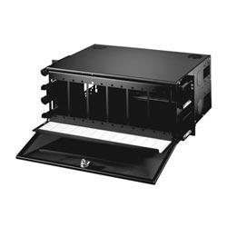 FIBER DRAWER FACEPLATES-ORMMACII CABINET MAX-72 PRTS ACCEPTS12-6 PRT PNL BLACK