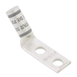 """Flex Lug, 500 kcmil, 2-trou 1/2"""" trous de goujon, 1.75, écartement des trous, 45 degrés Angle langue"""
