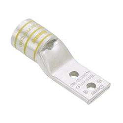"""Cuivre Compression Lug, trou 2, 350 kcmil, languette étroite, 3/8""""(9,5 mm) Stud, Pack de 6"""