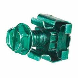 """Bonding Cage Nut, Includes #12-24 Bonding Cage Nuts (.06,.11 Thick Panel), #12-24 x 1/2"""" Bonding Screws With #2 Phillips/slotted Combo Hex Head (use 5/16"""" or 8mm Socket), Green, Pack of 50 sets"""
