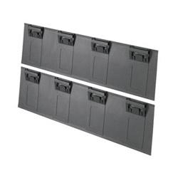 CabRunner embout pour Net-accès Cabinet, noir, Pack de 2