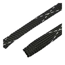 "Exp. Sleeving, 1.25"" (31.8mm),Flame Ret., Black, 50FT."