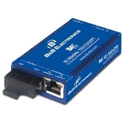 Qualité industrielle 10/100 miniatures Media Converter - IE-MiniMc/Telco-LFPT, TP-TX/FX-MM1300-ST avec adaptateur CA / CC