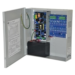 Power Supply Charger, 16 PTC Class 2 Outputs, 12VDC @ 10A, Aux Output, FAI, LinQ2 Ready, 115VAC, BC300 Enclosure