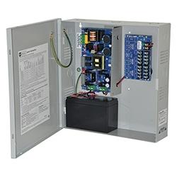 Power Supply Charger, 8 PTC Class 2 Outputs, 12VDC @ 10A, Aux Output, FAI, LinQ2 Ready, 115VAC, BC300 Enclosure