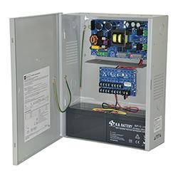 Power Supply/Charger avec alarme incendie Disconnect - 24 V DC @ 10 amp max. Sortie de courrant de huit (8) PTC Class 2 puissance limitée sortie et auxiliaire un (1)