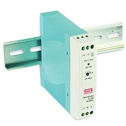 Puissance de sortie de l'unique sortie industrielle DIN Rail Mount Power Supply, 24 V DC, 1,0 A