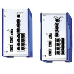 Managed Gigabit Ethernet RSP Switch, 8x100Mb RJ45 + 3x1000Mb SFP, -40 - 70C, 48-320V DC/88-265V AC, NEMA TS2, EN50121-4, IEC61850, PRP network redundancy