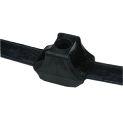 "Dual Clamp Tie 150 lb, Length 13"", Max Bun Diameter 1.3"", Width .5"", PA66HIRHS, Black 50/pkg"