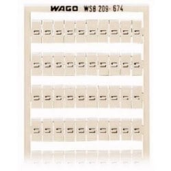 WSB QUICK MARKING SYSTEM VERTICAL MARKING L1 (100x) FOR WIDTH 5 - 17.5 MM 10 STRIPS á 10 MARKERS FOR EACH CARD CONSECUTIVE NUMBERS EACH STRIP