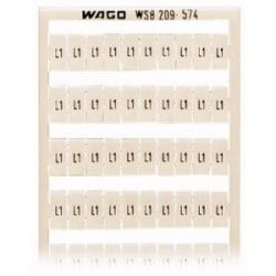 WSB quick marking system, horizontal marking, L1 (100x), for terminal block width 5 - 17.5 mm,<br/>10 strips with 10 markers per card. Same letters/symbols each strip