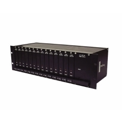 Rack and Power Supply for Fiber Optic Modules, 120 V AC, 60 Hz