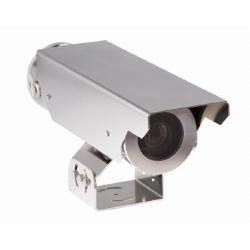 EX65 Explosion protégé caméra, acier inoxydable, jour/nuit, 1/3 po. CCD, 2 x DSP, 5-50 mm, NTSC, fibre, 12-24 V DC/AC