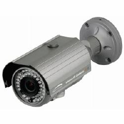 Intense-IR série hotte Bullet caméra, DC Auto Iris objectif à focale variable 5-50 mm blanches Version