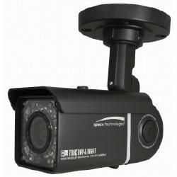 Caméra couleur résistant aux intempéries IR jour/nuit avec 2,8-12 mm Auto Iris DC objectif Vari-focal, Black Housing