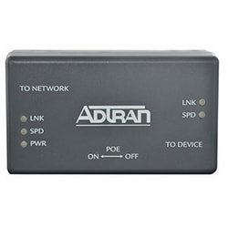 Translates between ActivReach Ethernet PoE/Data Connectivity on the network side to standard IEEE 10/100Base-T Ethernet on the device side.  PoE toggle switch controls whether or not PoE is delivered to the device.  Includes embedded mounting holes.