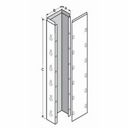 """Dalot en acier galvanisé métallique de goulottes, 2-1/2 """"x 4"""" x 120 «, 870 d'UL et CSA C22,2 n ° 26, répond aux normes de l'industrie des ascenseurs"""