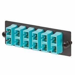 FAP with 6 SC 10 GbE Duplex Multimode Adapters (Aqua) Zirconia