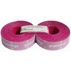 Hook and Loop Cable Ties Refill, ID-SCRATCH, Perforated in 3cm Pieces, Includes 2 Rolls of 2.5 meters, Violet Red