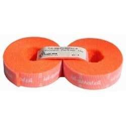Hook and Loop Cable Ties Refill, ID-SCRATCH, Perforated in 3cm Pieces, Includes 2 Rolls of 2.5 meters, Fluo Orange