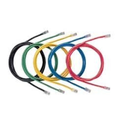Copper Patch Cord, RJ45-RJ45, Category 6, Yellow UTP Cable, 45 FT.