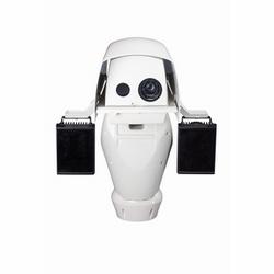 Caméra réseau à Q8721-E 35 MMOutdoor prête Pan Tilt - Visual et avec axe Q1755 visuel 10 x Optical Zoom, Autofocus caméra à imagerie thermique. Offre vidéo HDTV 1080i/720 p et une caméra thermique AXIS Q1921, 35 MM, IP66 au prorata