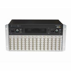 14 X Q7436 encodeur vidéo lame monté dans un châssis de l'encodeur vidéo Q7920, câble d'alimentation spécifique de pays