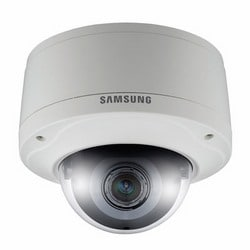Caméra réseau dôme anti-vandale, 3MP, HD1080p complet, motorisé Simple Focus 2,8 x 3 à 8,5 mm, H.264/MJPEG, WDR, vrai D/N, SD/SDHC, 12 V DC/PoE, IP66, IK10, intégré - 40F PoE radiateur