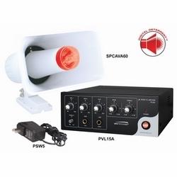 Kit de DeterrentTM numérique avec 15 W RMS amplificateur et haut-parleur de combinaison de corne/Strobe