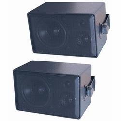 4 po 3 voie haut-parleur de tout usage intérieur/extérieur - noir vendu par paire