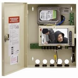4 canal RS Wall Mount enregistreur numérique avec écran intégré, 500Go